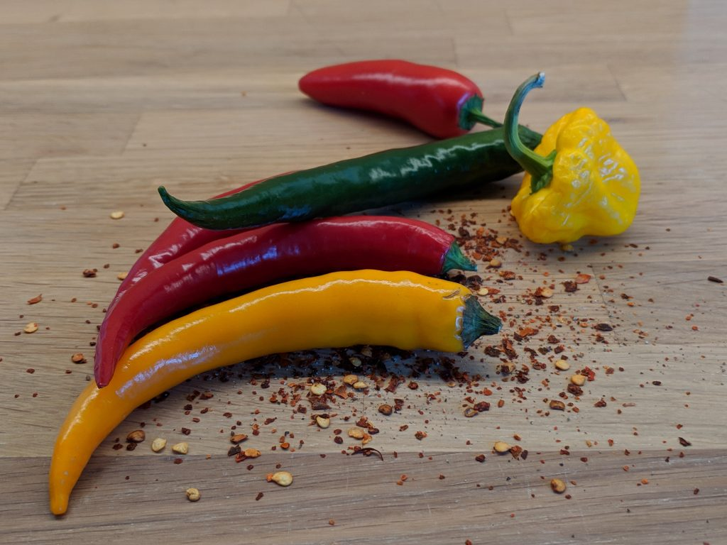 Different spicy peppers retrospective activity ideas