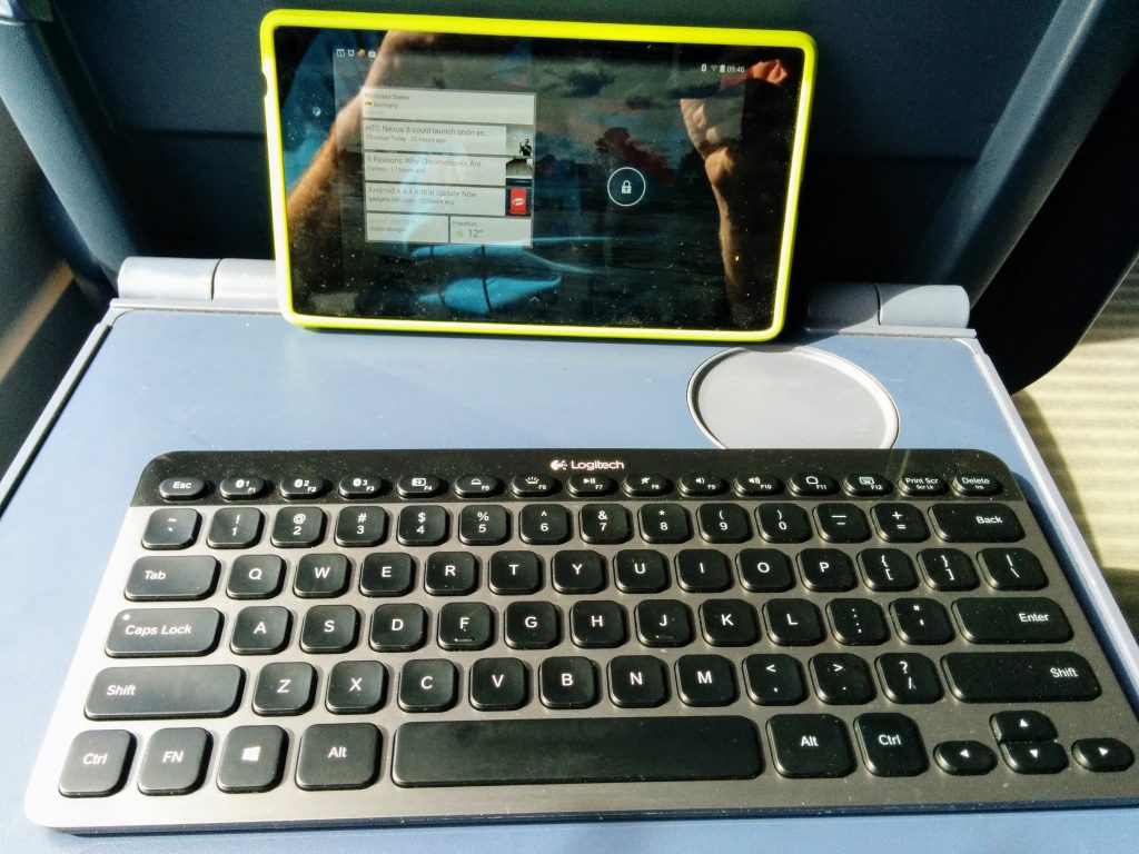 tablet and keyboard